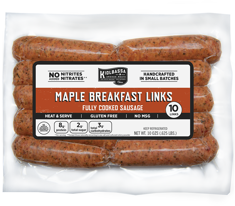 Maple Breakfast Links Fully Cooked Sausage